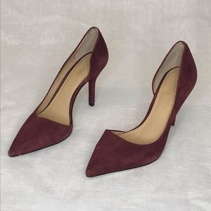 Michael Kors burgundy suede pumps size 6.5